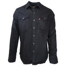 Levi's Men's Black Barstow Western L/S Denim Shirt (Retail $99.99USD)