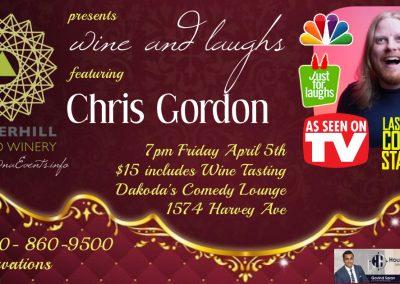 Wine&LaughswithChrisGordon7pmFridayApril5th