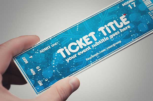 blue-christmas-ticket-template