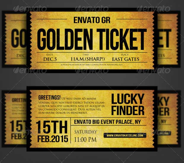 golden-silver-ticket-corporate-invitation