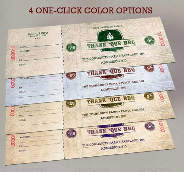 western-bbq-charity-ticket-template