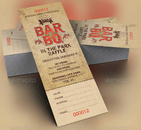 barbeque-raffle-ticket-template