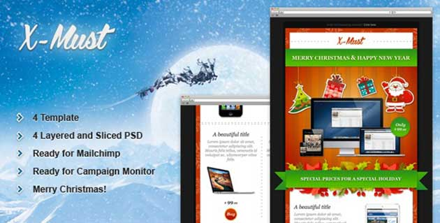 x-must-christmas-e-mail-templates