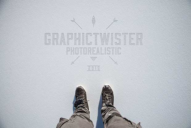 logo-mockup-on-snow