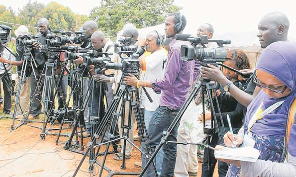 Tanzanian journalists at work. A new study has revealed that there