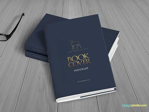 Realistic-Hardcover-Book-Mockup
