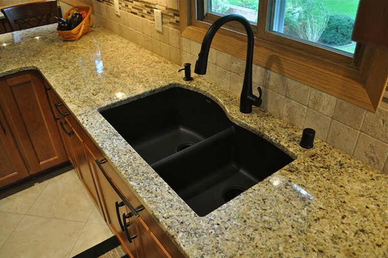 black-composite-granite-sink