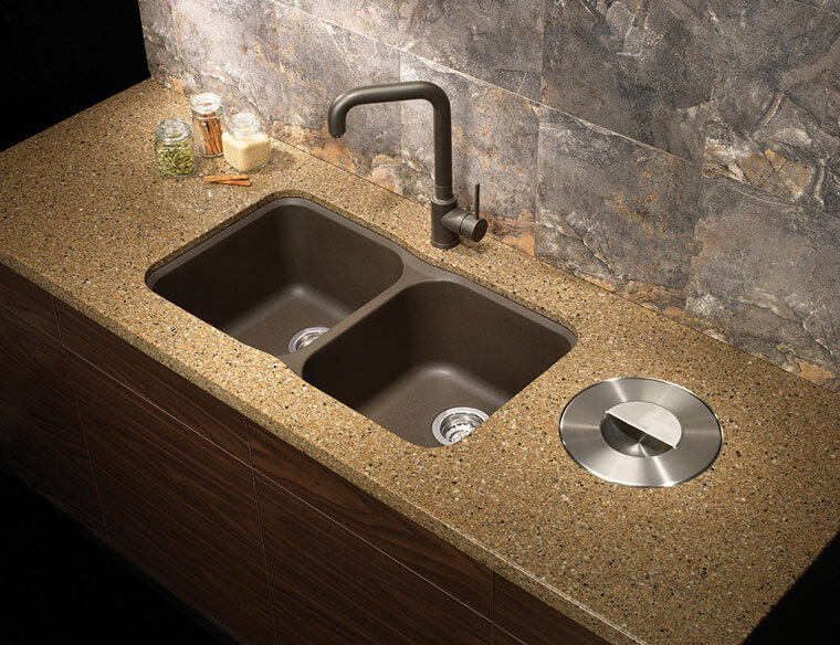 blanco-brown-stone-kitchen-sink