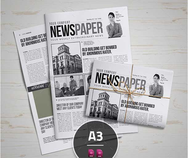 a3-newspaper-template