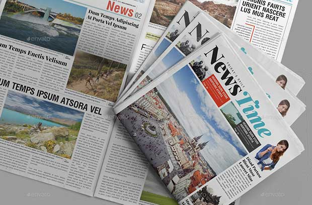 20 page newspaper templates design v4