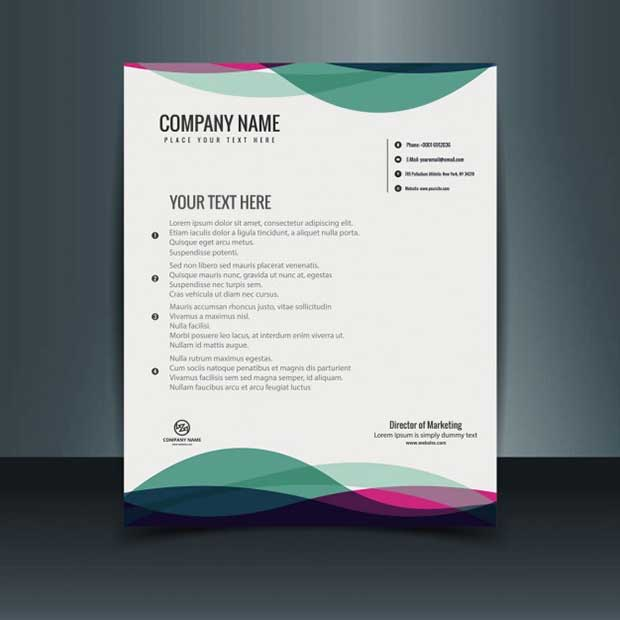 colorful-letterhead-template-free-vector-download