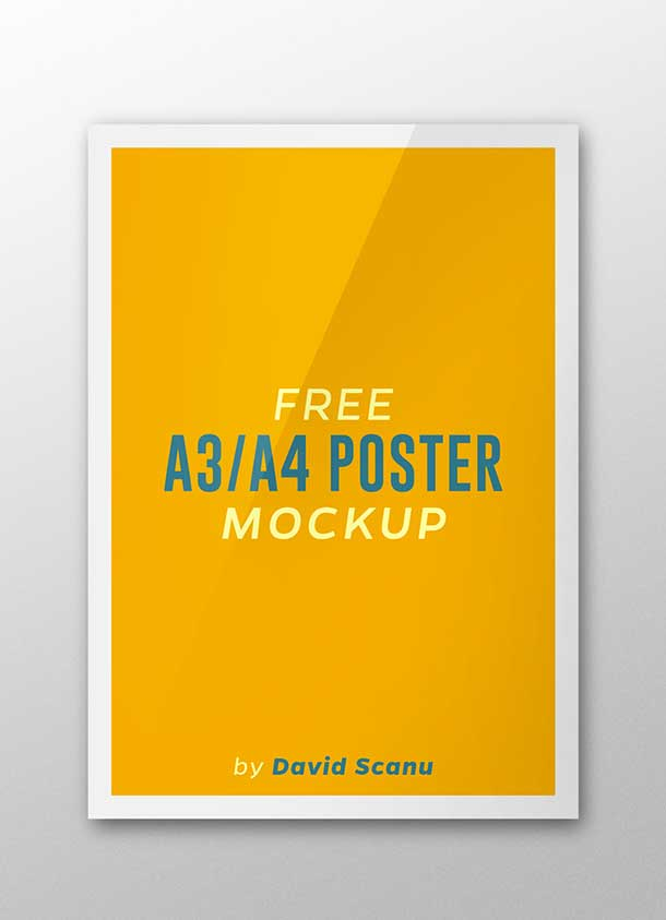 free-a3-a4-poster-psdmock-up