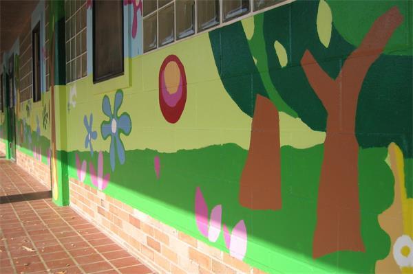 长沙墙绘 长沙幼儿园墙绘