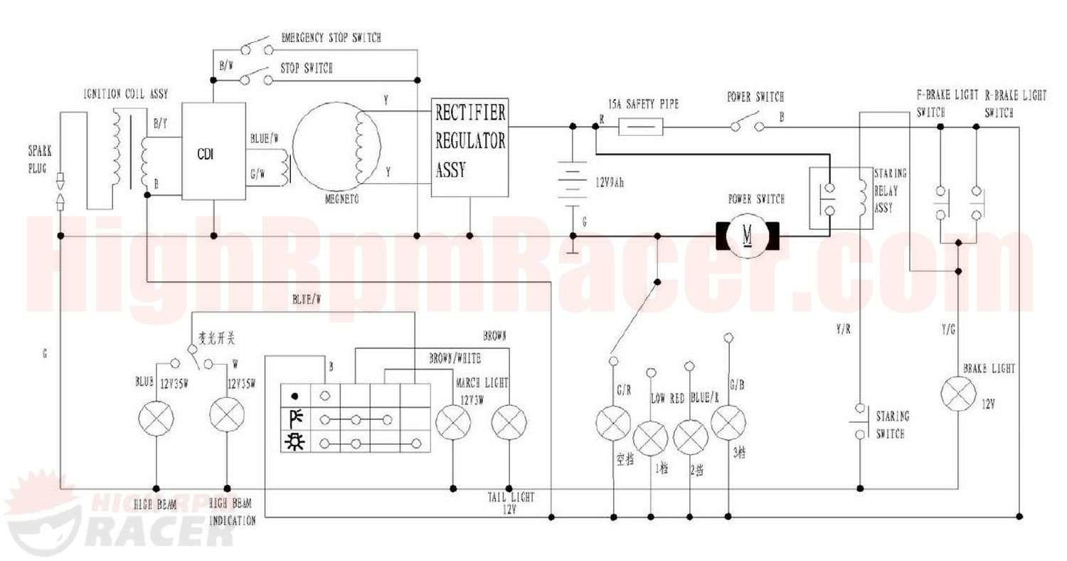 chinese 90 cc 4 wheeler wire diagram  u2013 wiring diagrams