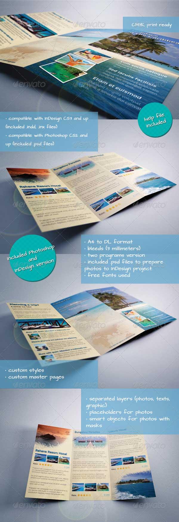 caribbean-holiday-travel-offer-tri-fold-brochure