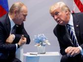 Donald Trump meets with Vladimir Putin at the G-20 Summit in Hamburg, July 7, 2017