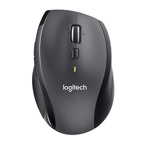 Logitech M705 - Ratón láser inalámbrico, Color Negro