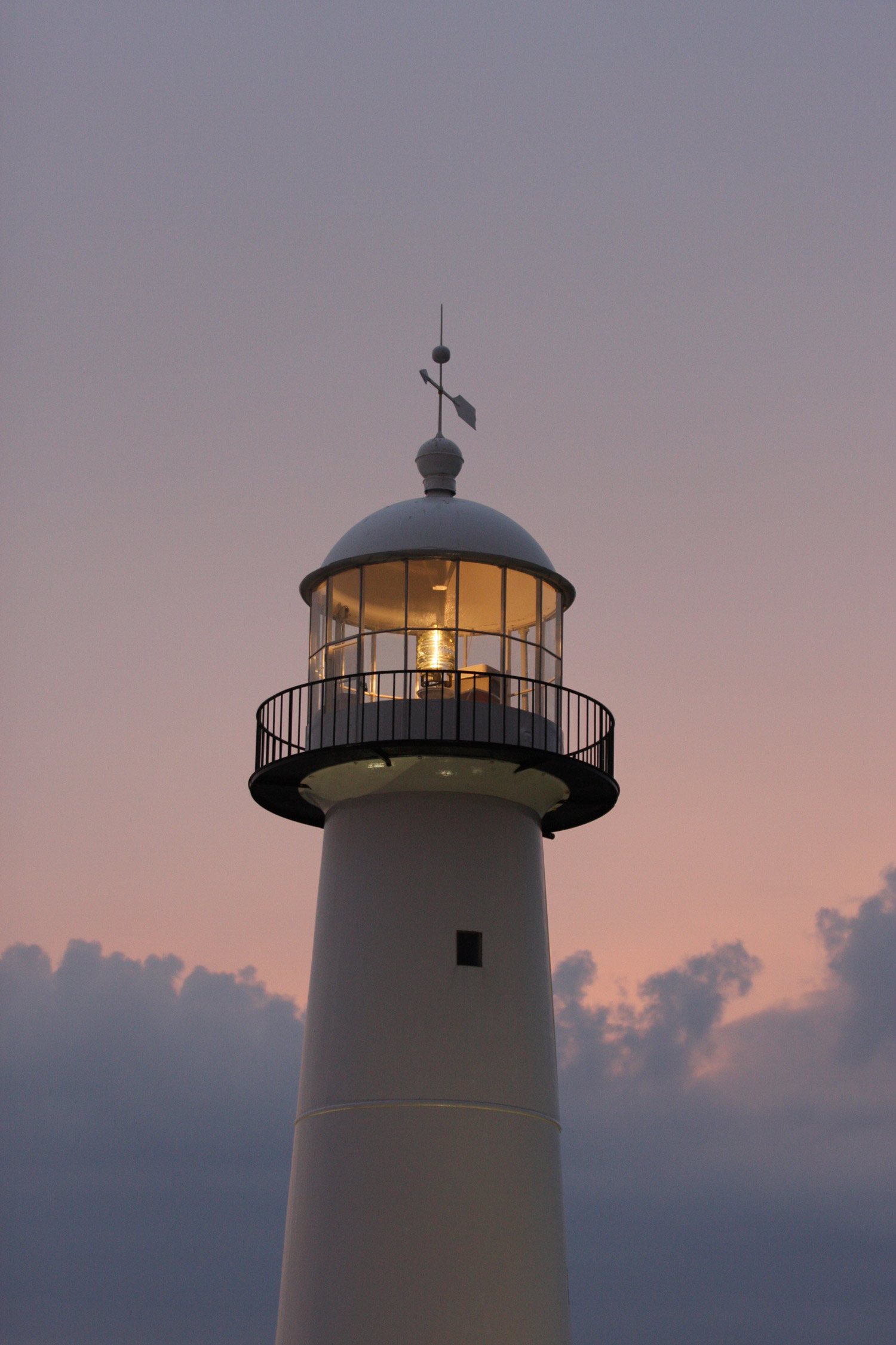 The lighthouse that looks over Biloxi's shores.