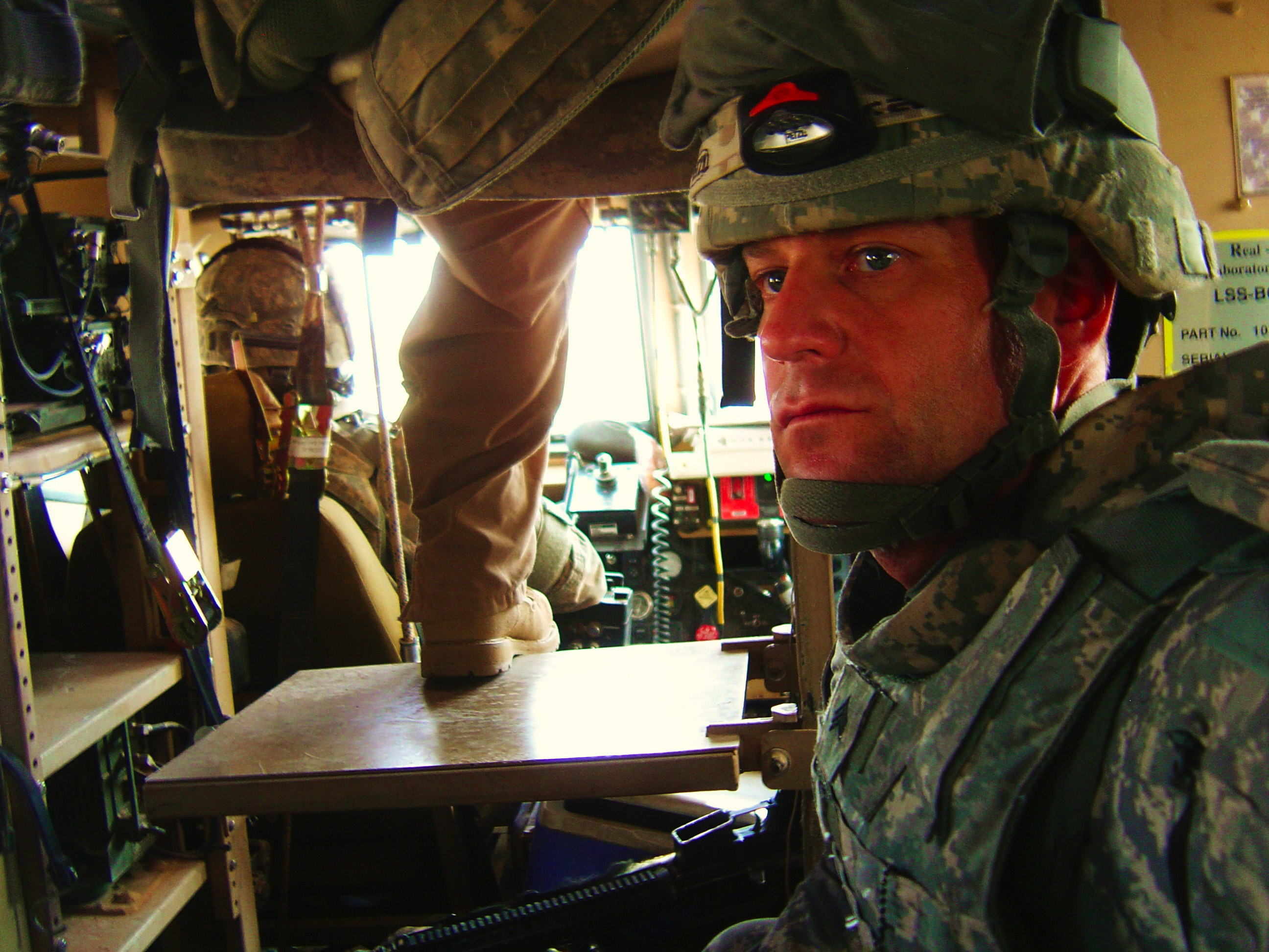 Jerry with his unit abroad. He served in Afghanistan, Haiti and Iraq.