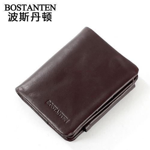 波斯丹顿B30132戈尔菲托复古系列男士多卡位竖款钱包
