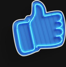 Hand with thumb up