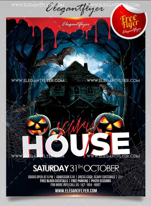 scary-house-psd-flyer-template-free
