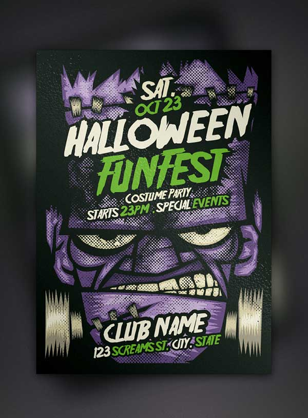 free-flyer-template-psd-franky-halloween