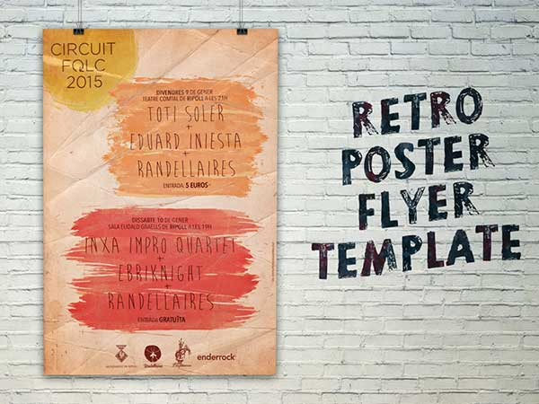 free-retro-poster-flyer-template