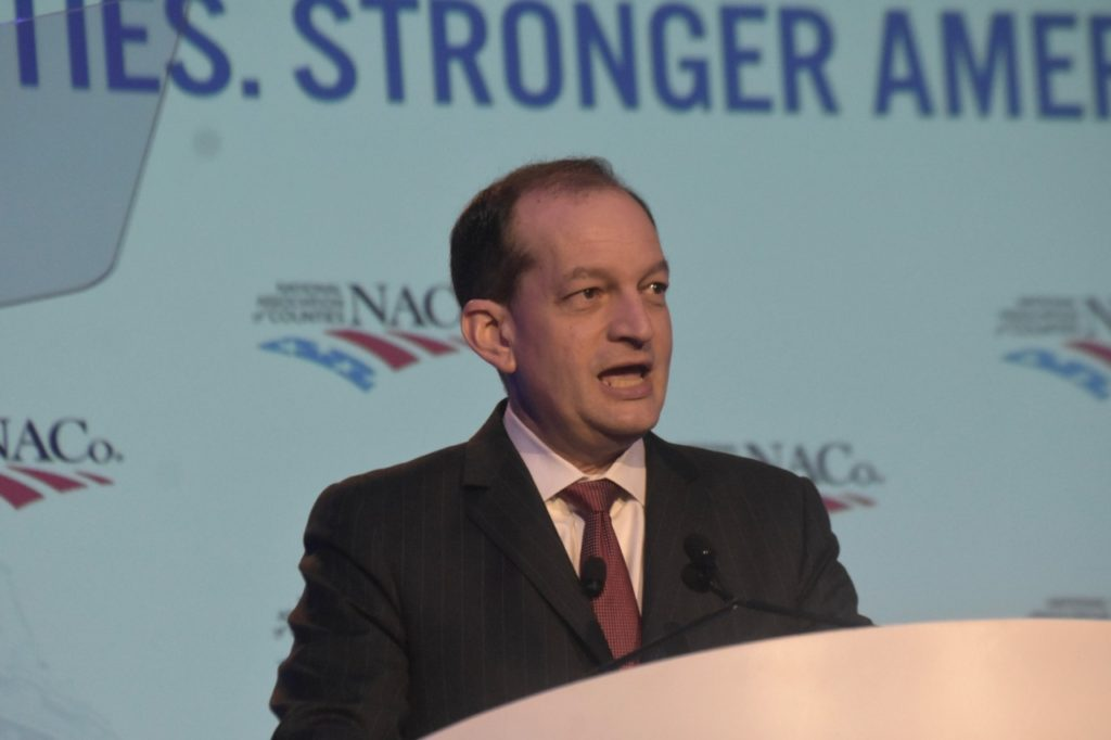 Labor Secretary Alex Acosta said on Monday that the Trump administration has launched a new website to encourage young Americans to consider trade apprenticeships. (Penny Star/Breitbart News)