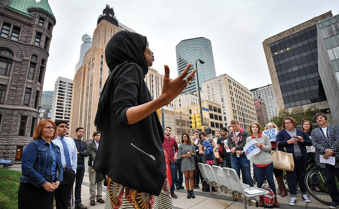 "According to the University of Minnesota's Lawrence Jacobs, ""the real political ingenuity"" of Omar is her ability ""to speak to multiple communities."""