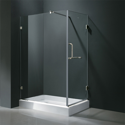"Frameless Rectangular Shower, Available 36"" x 48"""