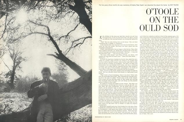 Article Preview: O'Toole on the Ould Sod, AUGUST, 1963 1963   Esquire