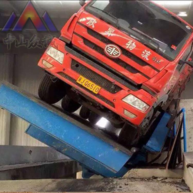液压翻板侧翻式卸车机-液压翻板侧翻式卸车机