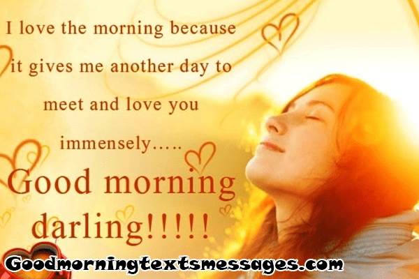 Good morning messages for my love
