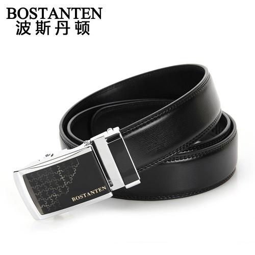 波斯丹顿B4104单圈精钢自动扣商务腰带皮带