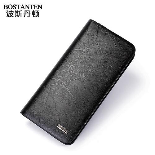 波斯丹顿B20090高贵钻石纹防水耐磨男士牛皮手拿包