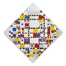 "Piet Mondriaan abstract painting ""Victory Boogie Woogie"" from 1942–44"