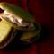 Matcha Whoopie Pies with Sakura Buttercream Filling