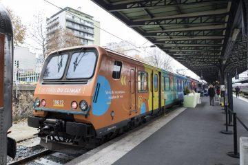 Le train du climat à la gare de l'Est