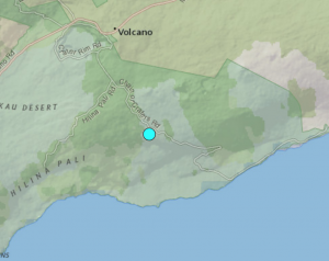 This week's earthquake on the flanks of Kilauea wasn't associated with volcanic activity