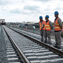 Work on the Nairobi to Naivasha SGR line. FILE PHOTO | NMG