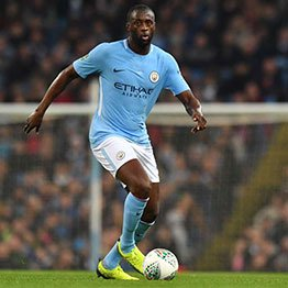 Manchester City's Ivorian midfielder Yaya Toure looks to pass the