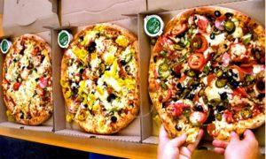 papa johns pizza sizes