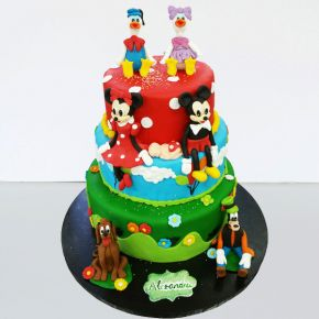 Tort  botez Clubul lui Mickey Mouse 3
