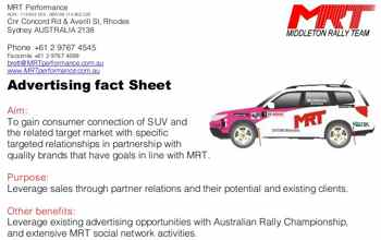 MRT Race Rally Advertising