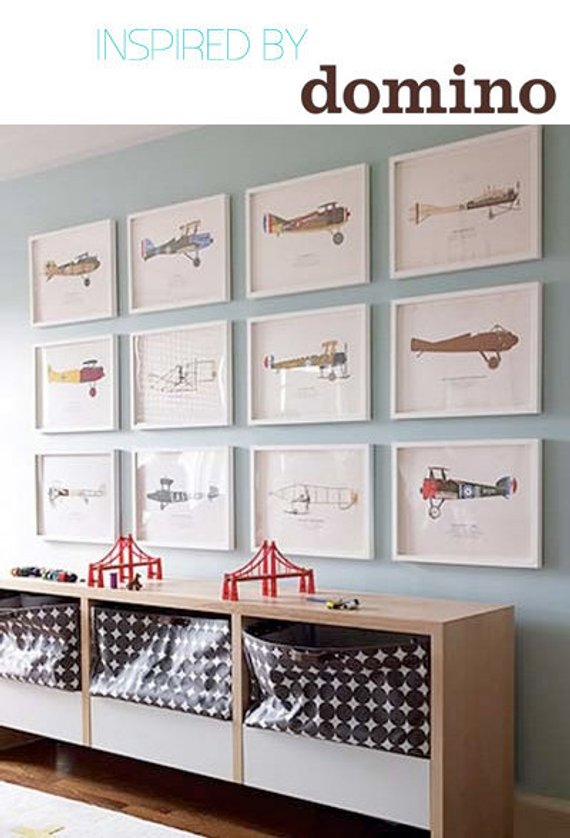 Bomber 7 Airplane Boy's Nursery Playroom Wall Art