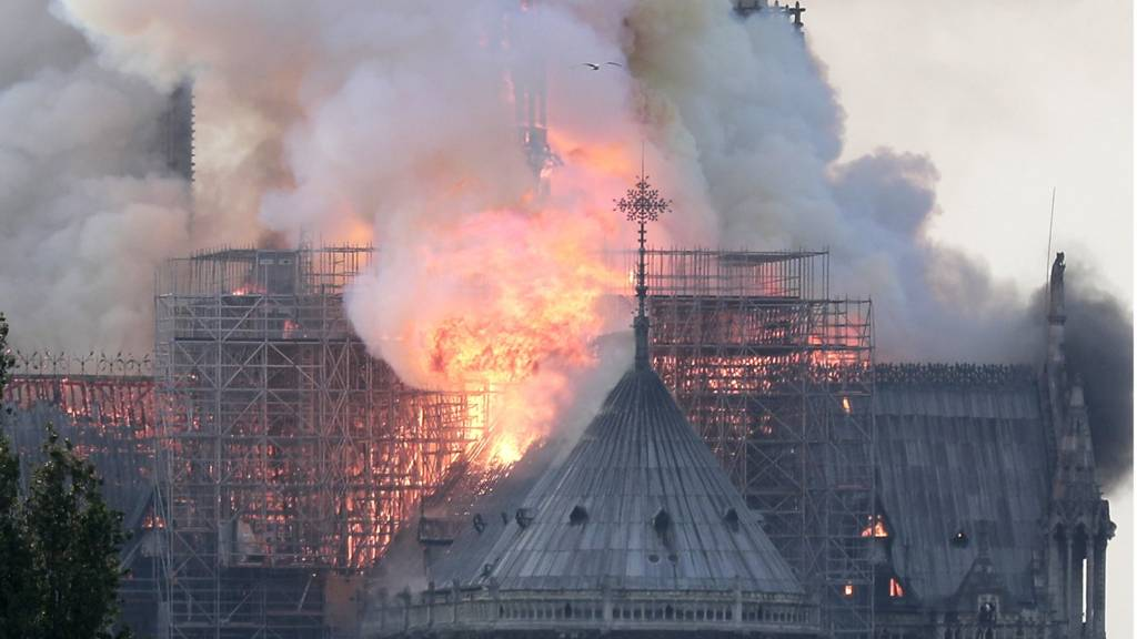 Notre-Dame Cathedral engulfed by fire