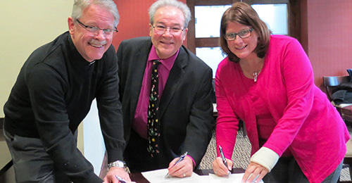 Church Partnership Signing