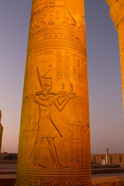 Hieroglypics on one of the Columns at Kom Ombo Temple