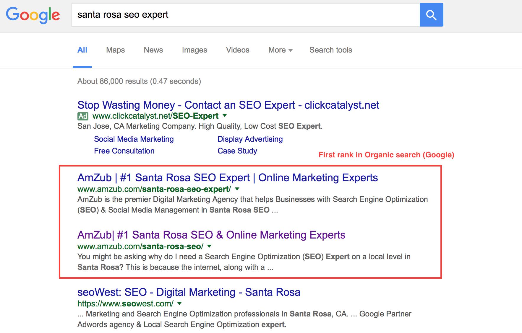 organic ranking google